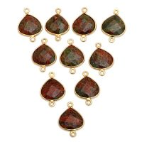 Sterling-Silver-Unakite-Gold-Plated-Heart-Shape-Connector
