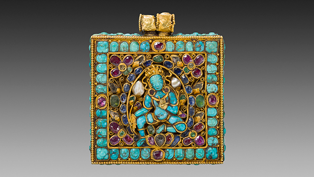 Amulet case (jantar) depicting a Buddhist goddess