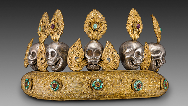 Copper diadem with skulls