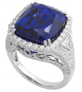 Platinum Ring with Tanzanite