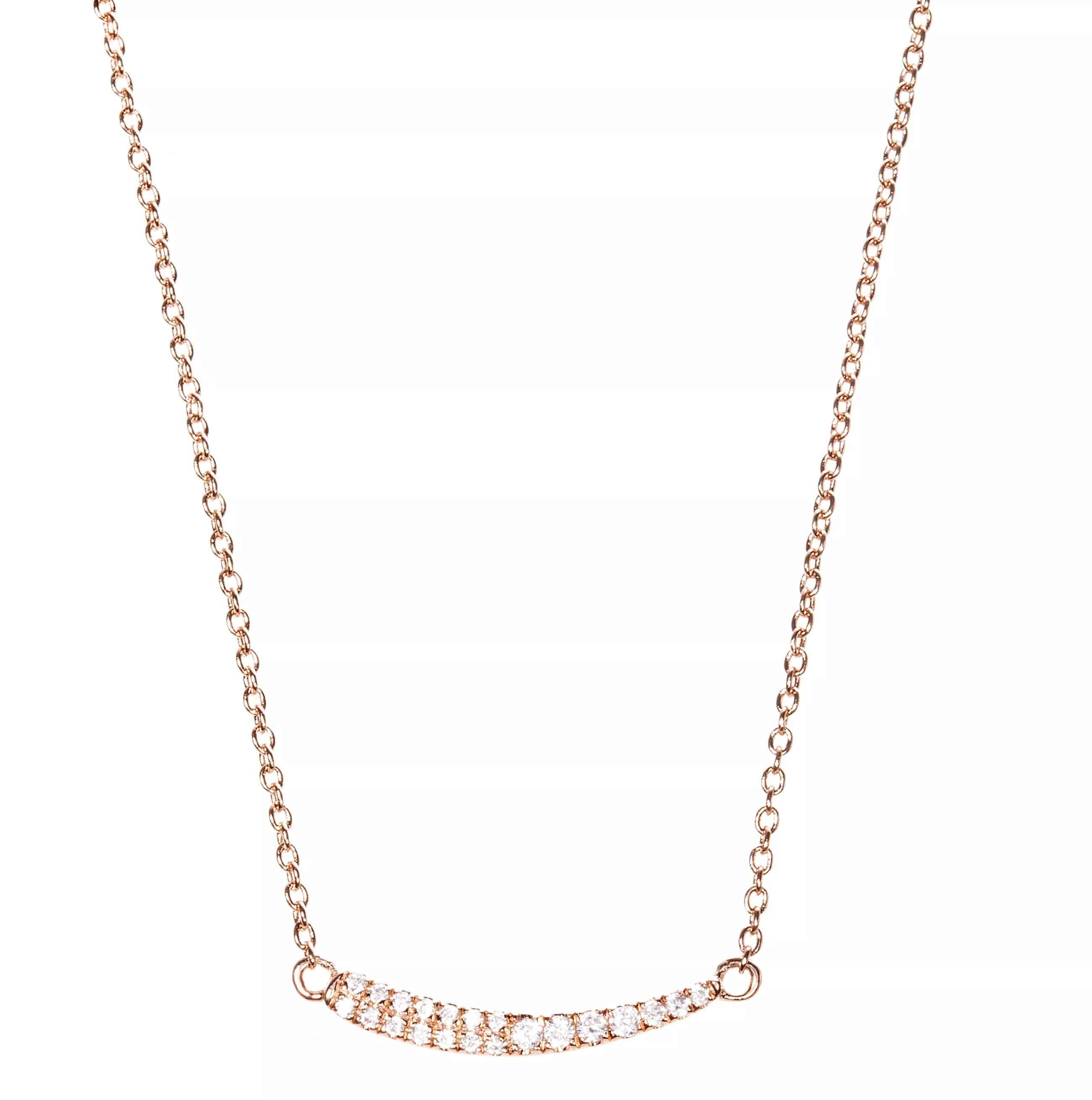Tiny Curve necklace in rose vermeil