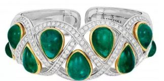 emerald and diamonds Bracelet