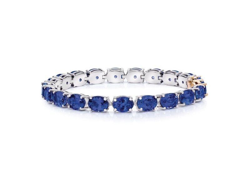 Tanzanite bracelet from the Wow collection of safi kilima Tanzanite