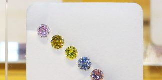 ALROSA sells colored polished diamonds