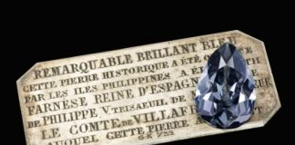 Royal Blue Diamond Surfaces After 300 Years