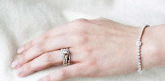 Tiara inspired shaped wedding ring