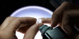 Diamond inspection at a Tiffany Diamond Academy workshop