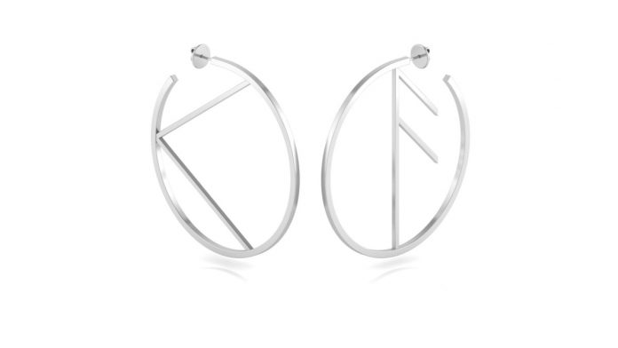 Hargreaves Stockholm Empowerment Large Earring BigKnowledge Silver 1 350 UK