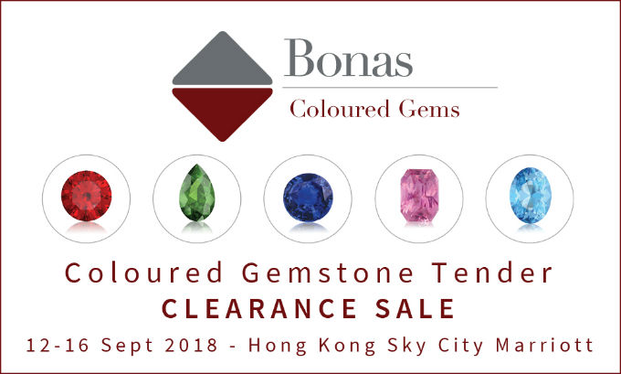 Polished coloured gemstone tender in Hong Kong