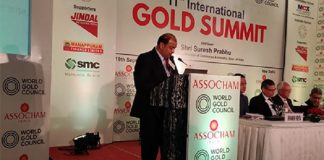 GJEPC Chairman Addresses 11th International Gold Summit in Delhi