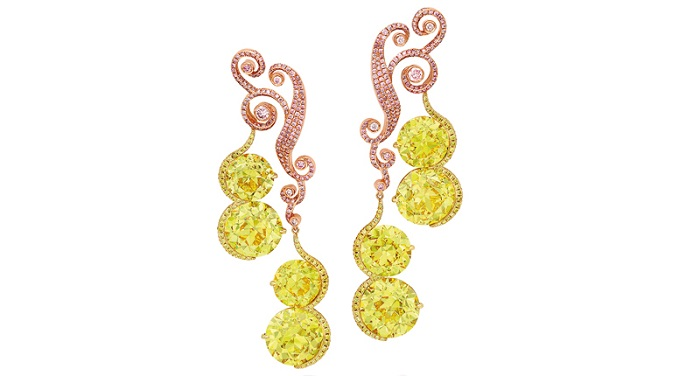 The earrings, pictured below, could sell for between $4.8 and $6.1 million.