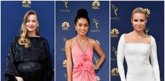 Yvonne Strahovski,Kristen Bell, Yara Shahidi Sparkle in Forevermark Diamonds at the 70th Annual Emmy Awards