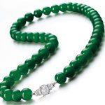 jadeite beads of a brilliant emerald green color