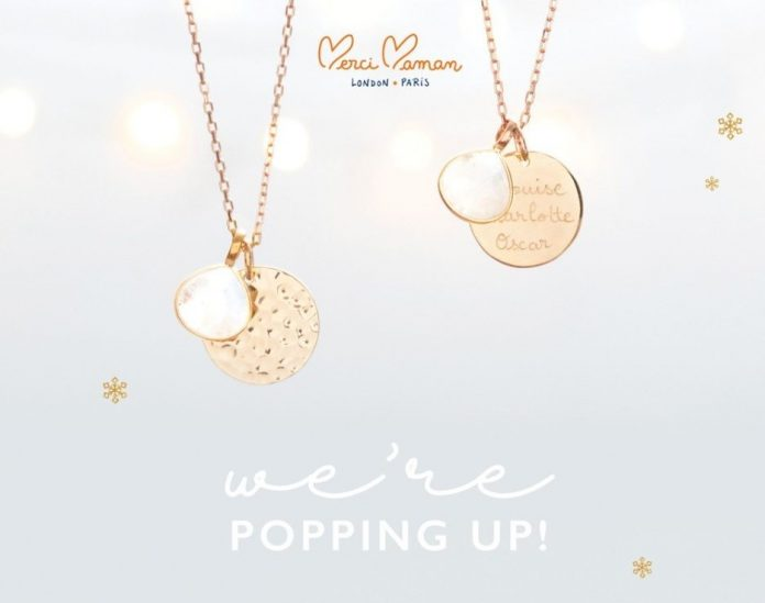 Personalised jewellery brand pops up in London to capitalise on Christmas trading