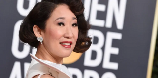 Sandra Oh in Forevermark Diamonds at the 76th Golden Globe Awards