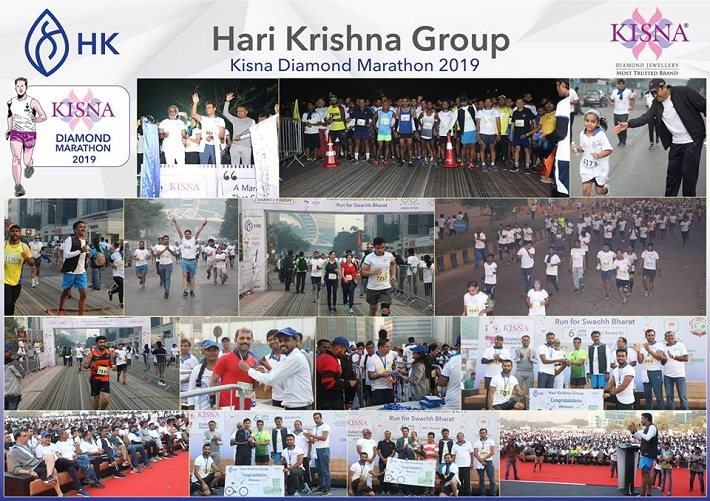 Hari Krishna Exports hosted Kisna Diamond Marathon 2019