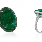 Emeralds and Diamonds rings