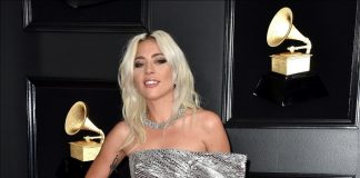 Lady Gaga Wears Platinum Jewelry to The 61st Grammy Awards