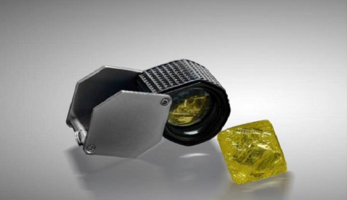 Mountain Province Includes 60-Ct Fancy Vivid Yellow Stone in February Sale