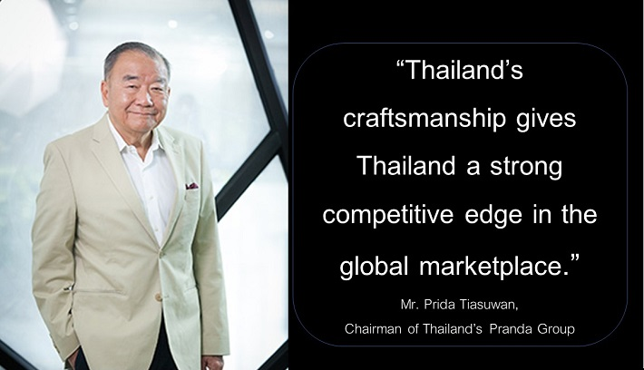 Mr Prida Tiasuwan, Chairman of Thailand's Pranda Group