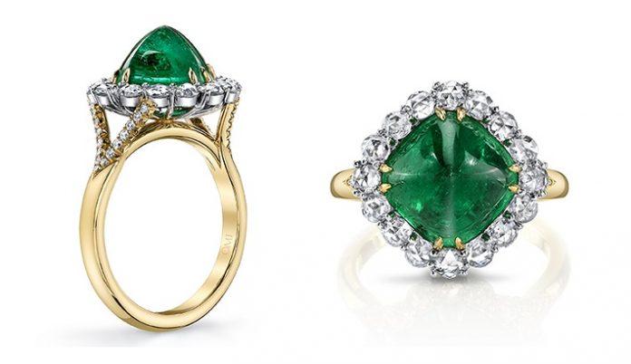 Omi's Sugarloaf Emerald Ring