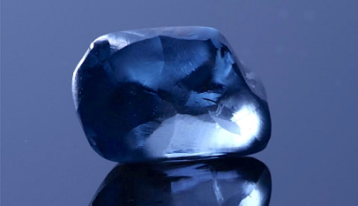 Botswana unveils 20-carat blue diamond