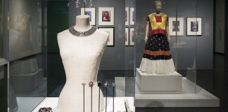 "A choker, bracelet and brooches from the show ""Frida Kahlo: Appearances Can Be Deceiving."""