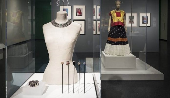 "A choker, bracelet and brooches from the show ""Frida Kahlo: Appearances Can Be Deceiving."