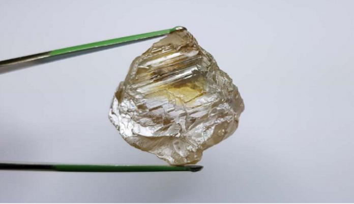130 carat gem quality diamond recovered at Lulo