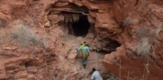 The entrance to a gemstone mine in Tanzania. TANZANIA WOMEN MINERS ASSOCIATION