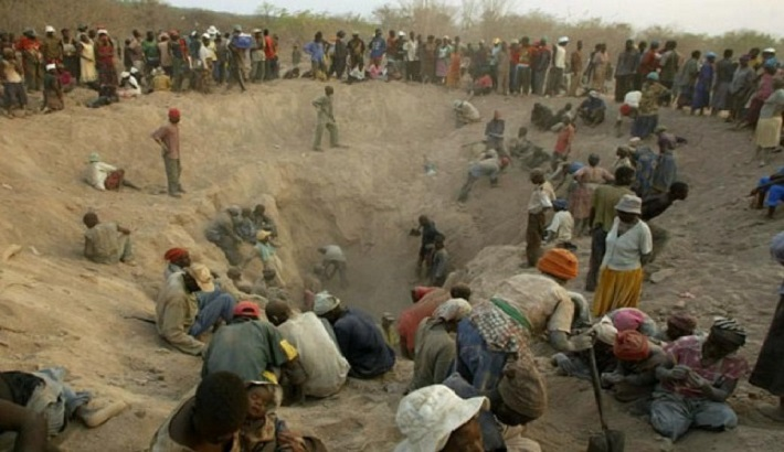 Artisanal mining blood diamonds