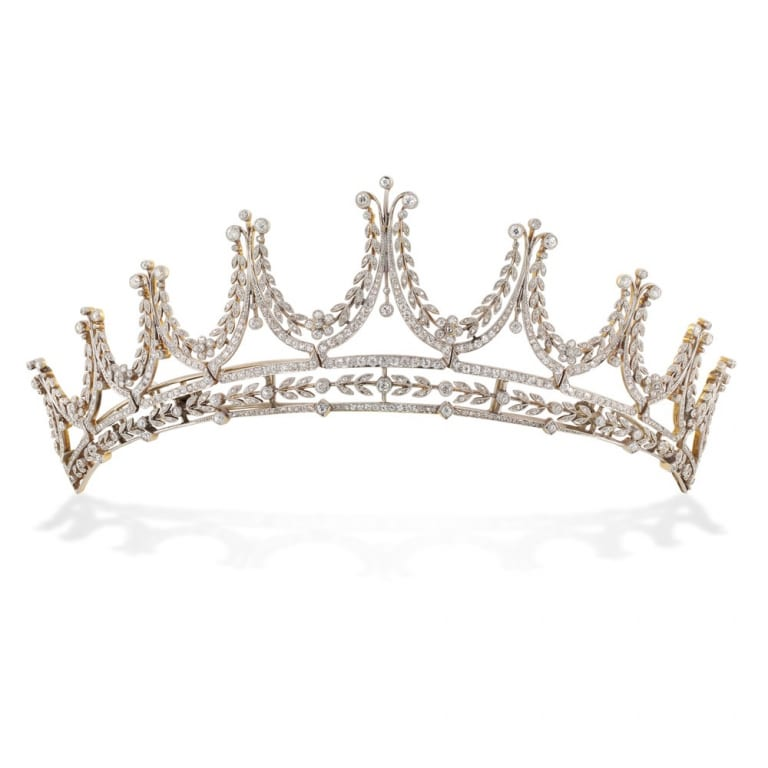 The Edwardian Diamond Tiara Worn By Elizabeth McGovern.