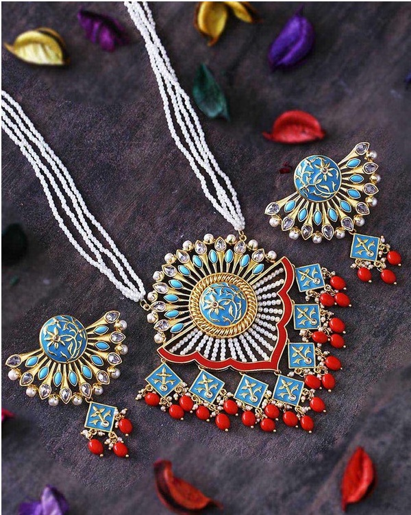 colorful bridal jewellery