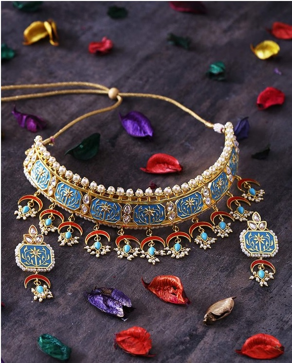 new colorful bridal jewellery