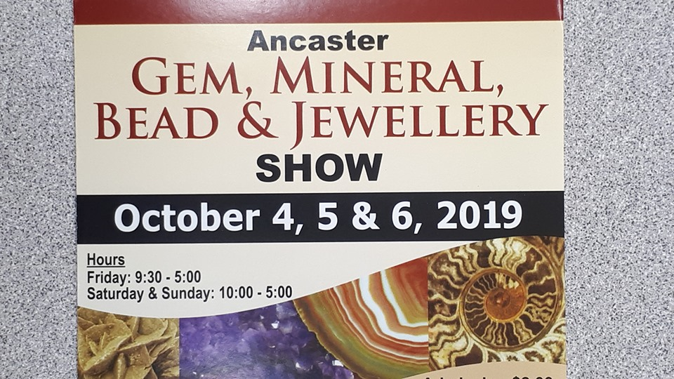 Ancaster Gem, Mineral, Bead & Jewellery Show