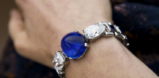 Cartier Diamond and Sapphire Bracelet Tops Sotheby's Sale