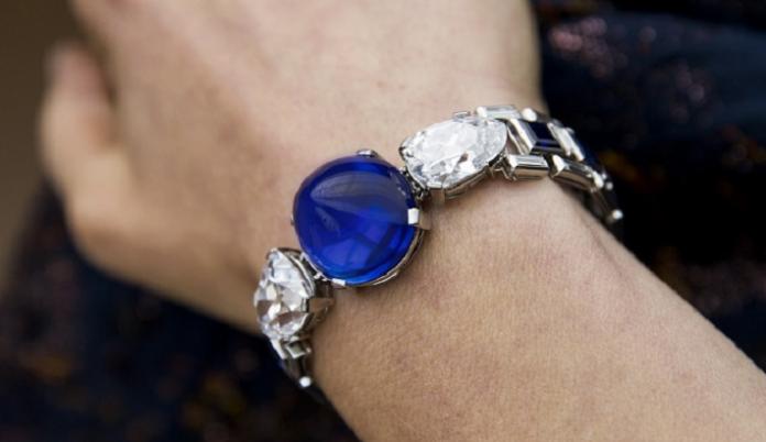 Cartier Diamond and Sapphire Bracelet Tops Sotheby's Sale