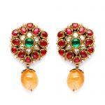elegant-floral-Jadau-earrings-