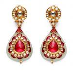 ruby-and-uncut-diamond-earrings-set