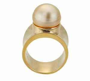 Golden South Sea Pearl Ring by Christina Malle