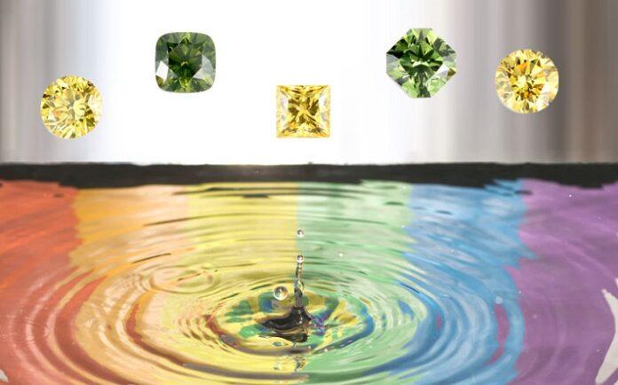 Watch a video rainbow of lab-grown diamonds