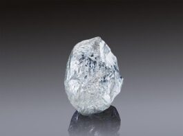 An exceptional 242-carat diamond offered on sale at ALROSA Jubilee Auction in Dubai