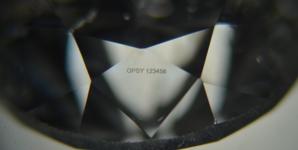 Opsydia's tamper-proof diamond security technology