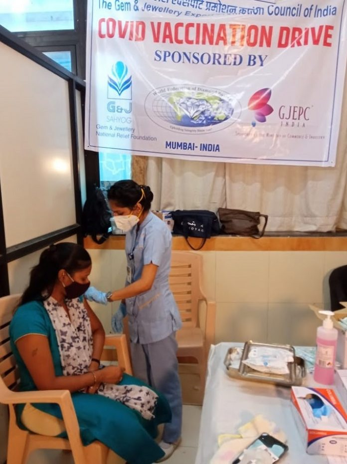 WFDB Diamond Aid Campaign Culminates in COVID Vaccination Drive in Mumbai