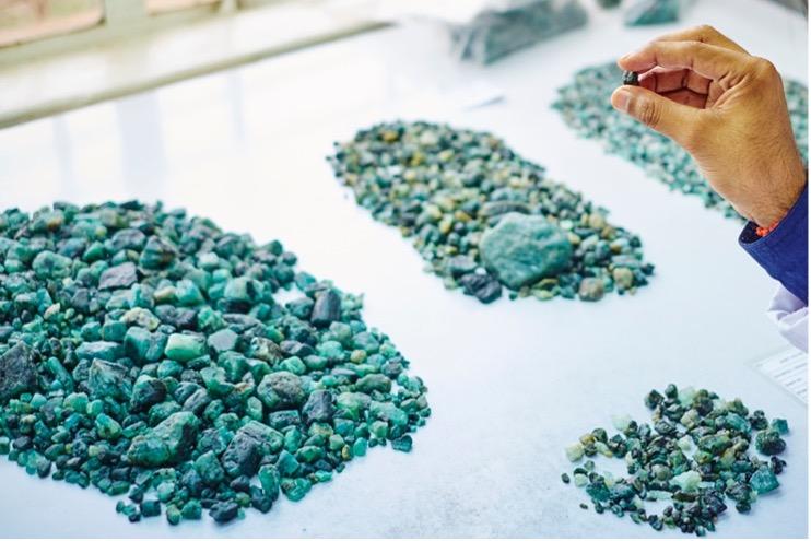 Emerald piles - Gemfields
