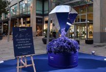 Laings showcases 8ft on-street diamond sculpture – 'The Laings Diamond'